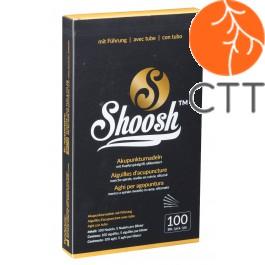 Akupunkturnadel SHOOSH3510, EXTRA LANG ! 0.35 x100mm, mit F., mit Kupfergriff