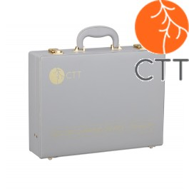 Schröpfgläser-Set Vakuum Deluxe, 24 Gläser aus Acryl mit Handpumpe in schönem Kunstleder-Koffer