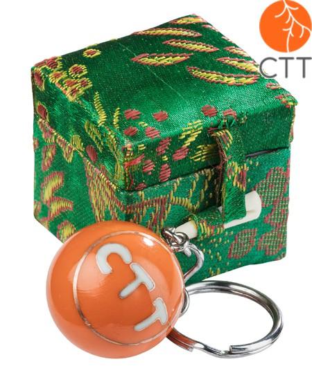 Schlüsselanhänger CTT, mit Klang in schöner Box, orange