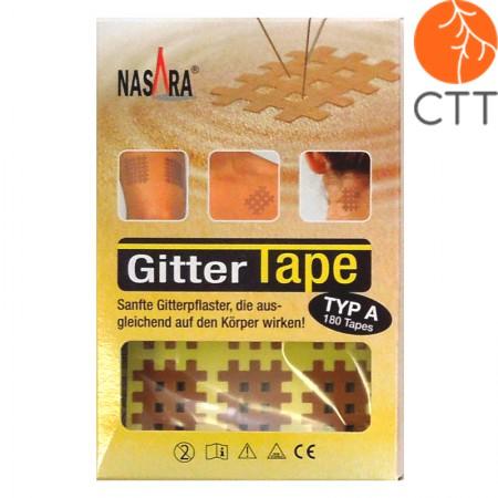 Nasara Gittertape, beige 2cm x 3cm