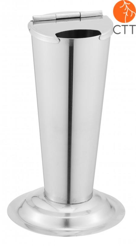 Edelstahl Standzylinder fuer Scheren, 4 cm Durchmesser x 11 cm hoch