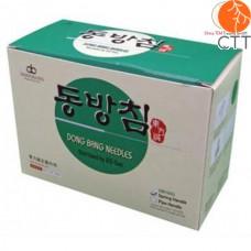 DONGBANG Akupunkturnadeln DB105, 500 Nadeln pro Box, 5 Nadeln pro Blister, koreanischer Stahlgriff., silikonisiert