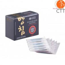 DONGBANG Akupunkturnadeln DB106, koreanische Stahlgriff, silikonisiert, 1000 Nadeln pro Box