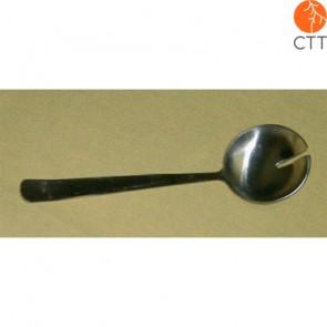 Metalllöffel mit Schlitz, zum sicheren Entfernen des Moxa