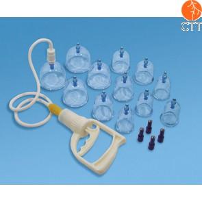 Magnetisches Schröpfgläser-Set mit Pumpe, 12 Acrylglaeser