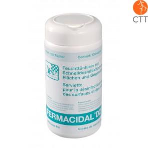 FERMACIDAL D2, 120 Desinfektionstücher in Dose, Desinfektion von Gegenständen