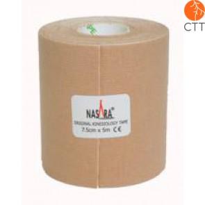 NASARA® Tape, beige, 7.5cm x 5m, extra breit