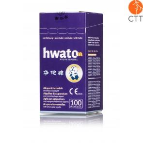 HWATO mit Führung, versilberter Spiralgriff, 100 Nadeln pro Box