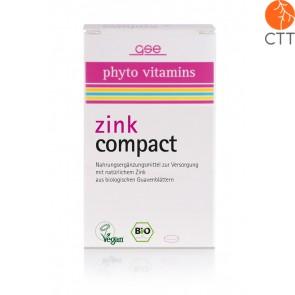BIO Zink Compact, vegan, gluten- und laktosefrei, 60 Tabletten à 500mg