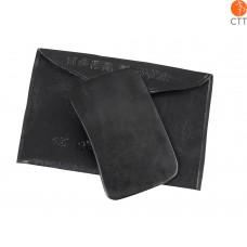 Gua Sha Schaber, rechteckig, Größe: M, ca. 8 x 4.8cm, Farbe schwarz