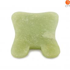 Gua Sha Schaber rechteckig aus Jade