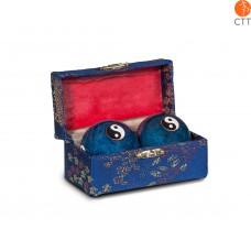 Original chinesische Qi-Gong-Kugeln Yin&Yang  4cm, blau