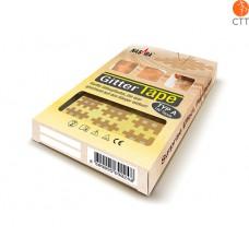 Gittertape von NASARA, beige 5cm x 6cm, 20 Blatt à 2 tapes