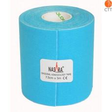 NASARA® Tape, blau, 7.5cm x 5m, extra breit