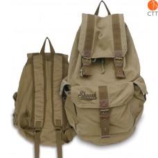 Shoosh Canvas Backpack Rucksack, 100% Canvas soft, Farbe khaki, Eco friendly, 38